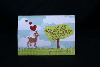 A2C You are such a deer card