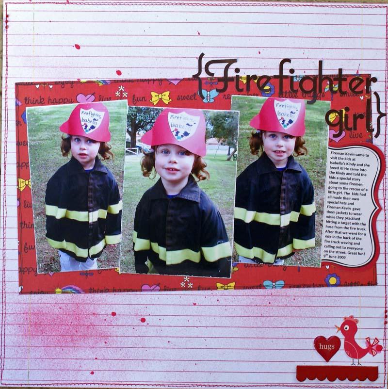 Sketch challenge Firefighter girl