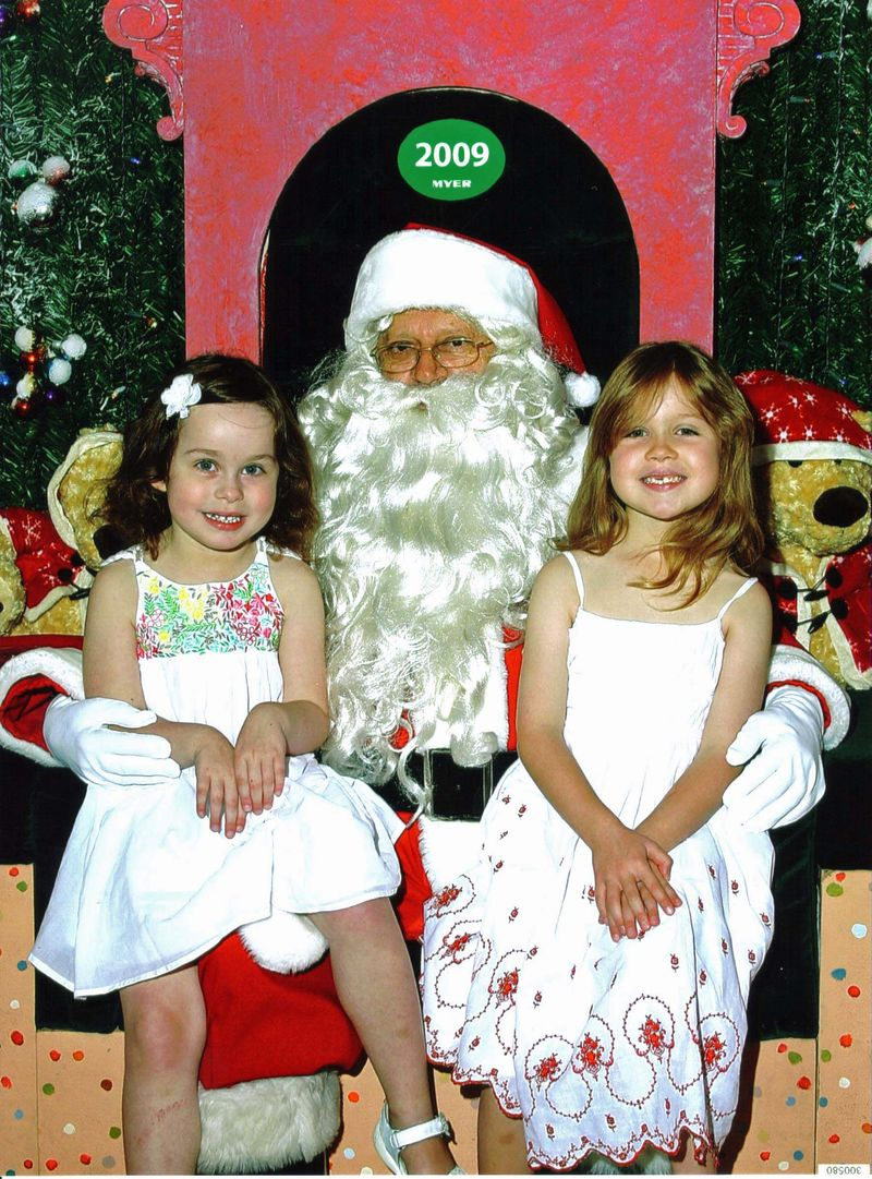 Santa and the girls