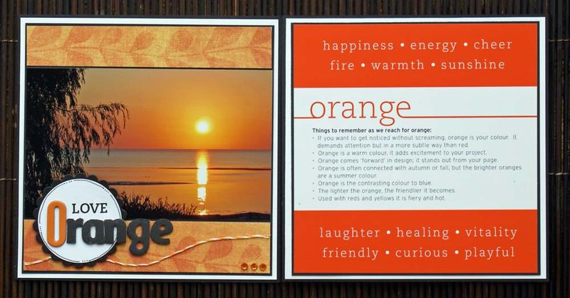 Colour week 2 Orange