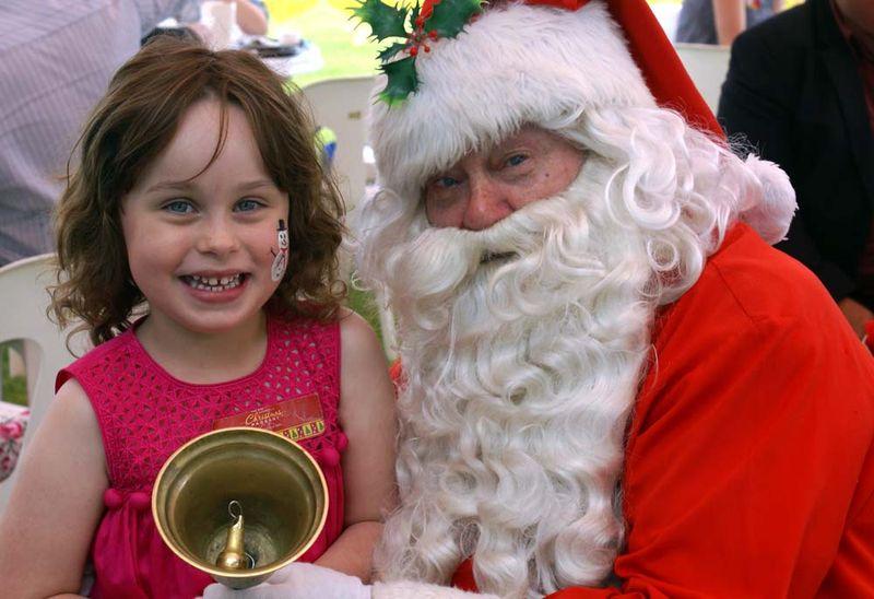 Isabella and Santa