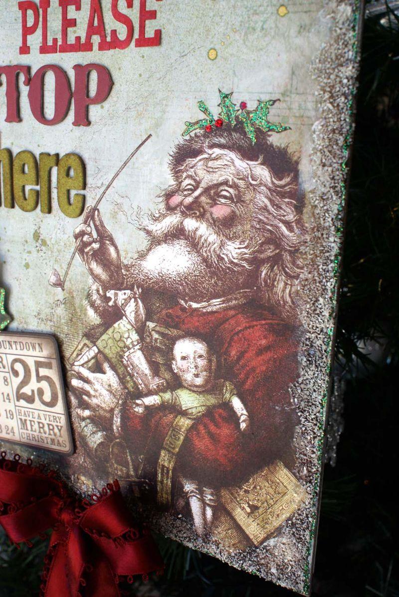 Santa sign close up Santa Sonia Thomason