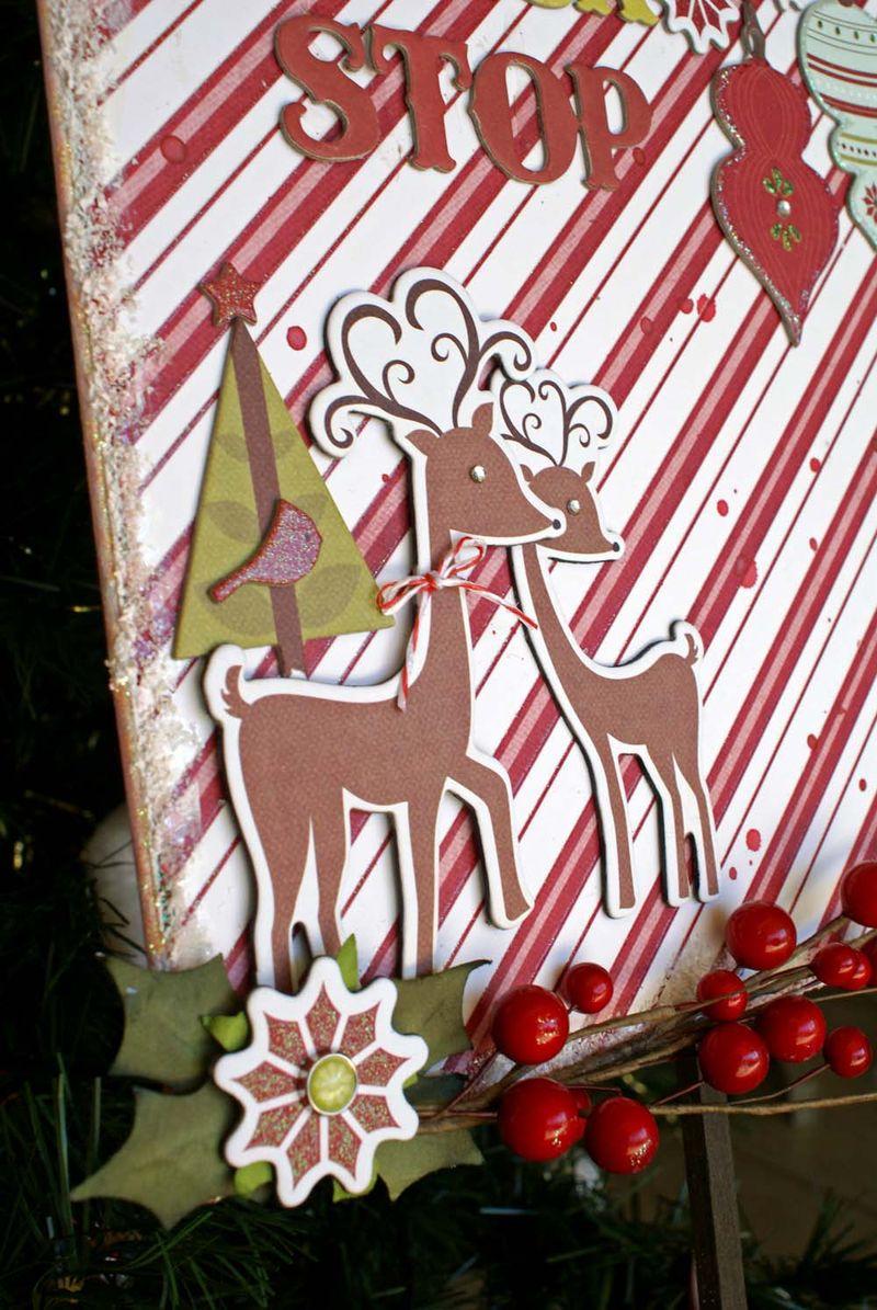 Reindeer sign close up Sonia