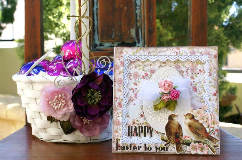 Easter basket and card