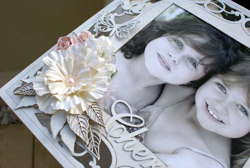Cherish ornate frame close up