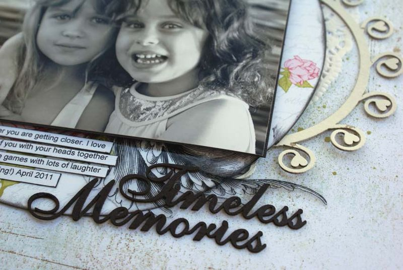 Timeless memories close up frame