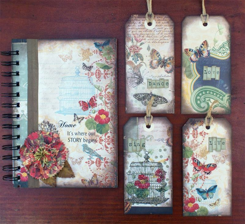 Journal with tags outside