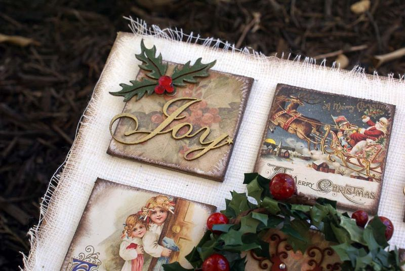 Christmas canvas close up joy