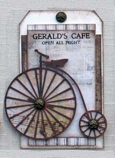Tag frame Penny Farthing