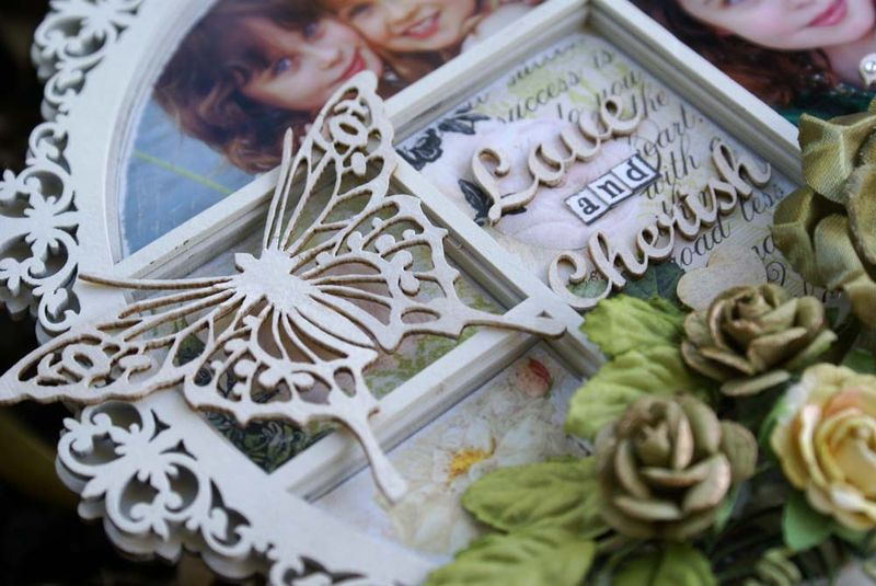 Love and Cherish Printers Tray close up butterfly