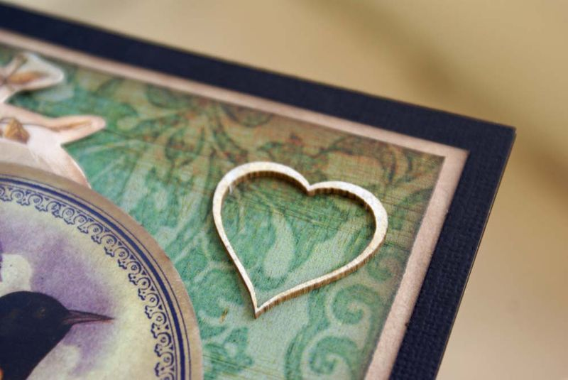 Cherish card close up heart