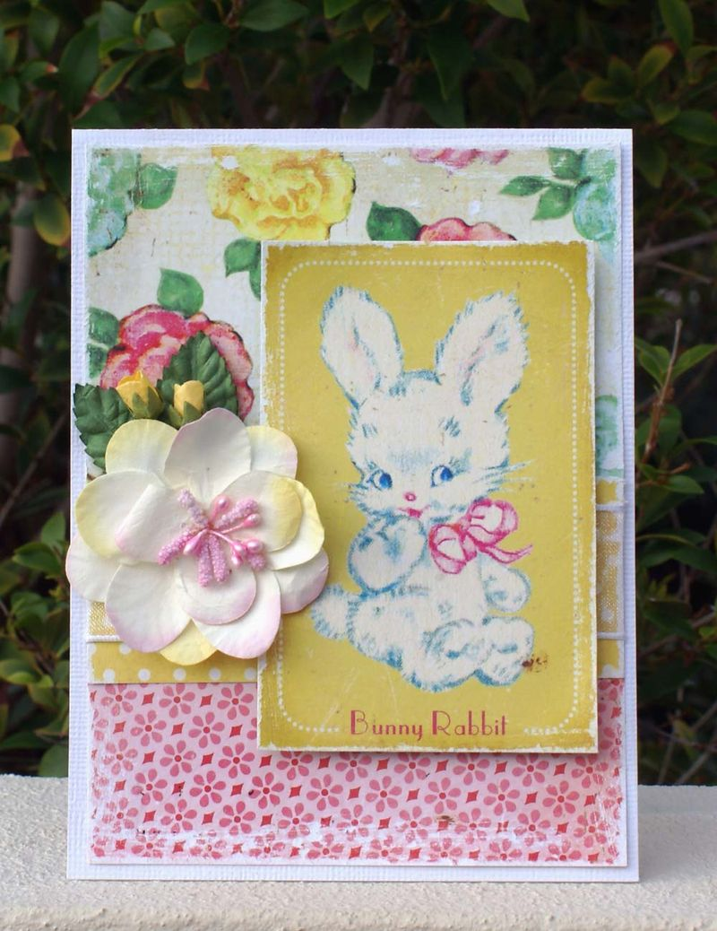 Crate Paper Bunny card
