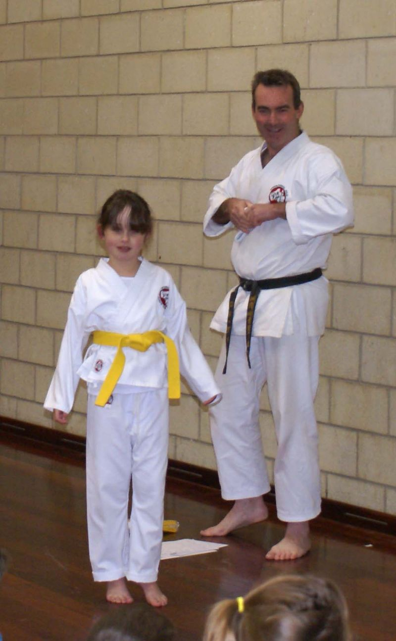 Karate Isabella yellow belt