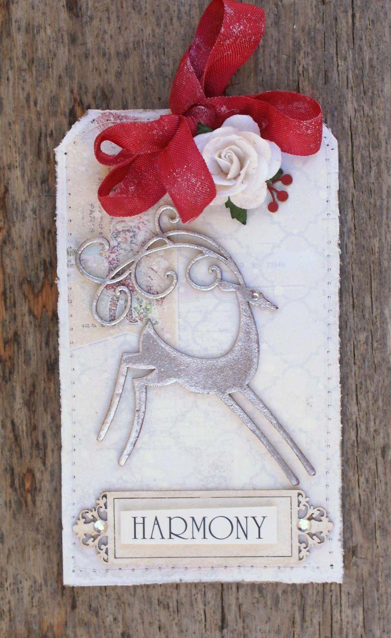 Scrapmatts Christmas tags Love