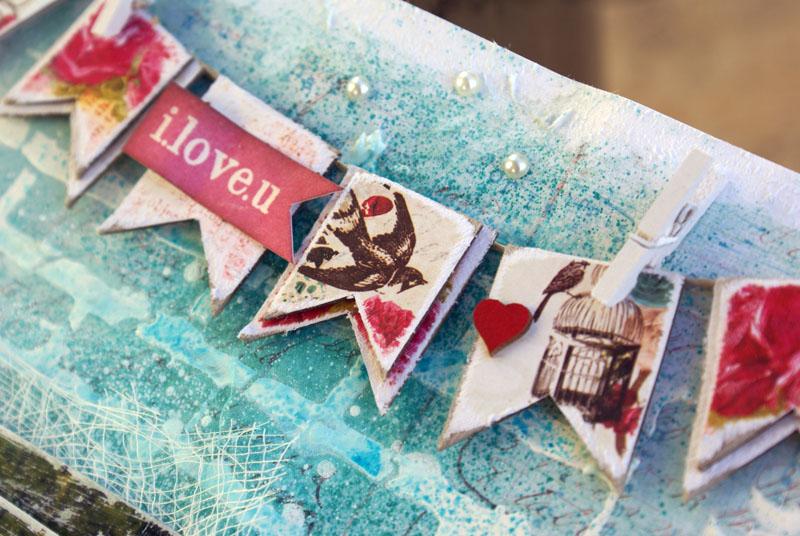 Scrapmatts I Love you banner