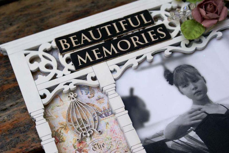 Beautiful frame close up title