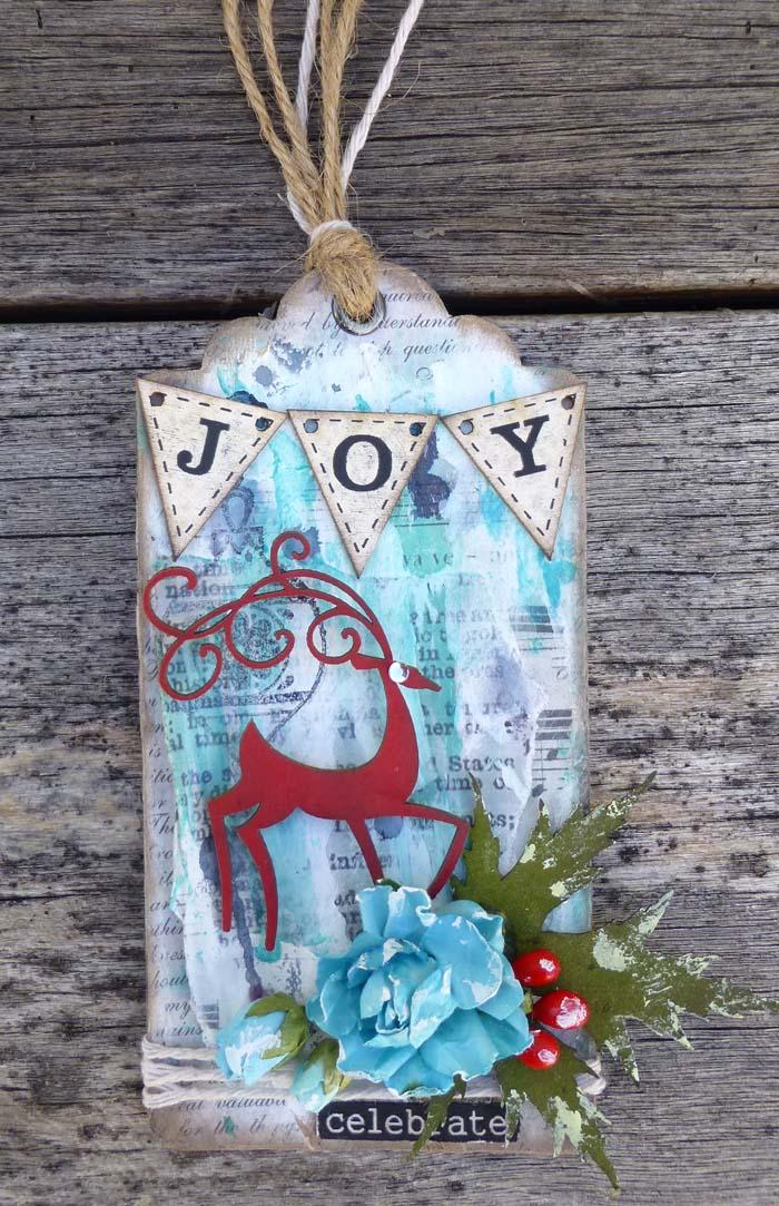 Christmas Joy tag