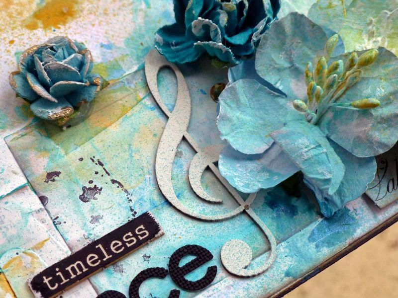 Timeless elegance close up music note