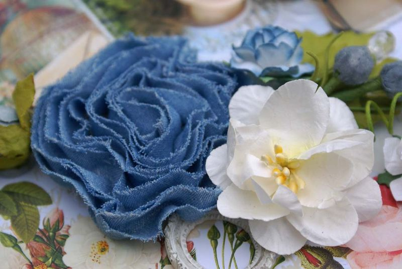 Just Perfect Denim Rosettes