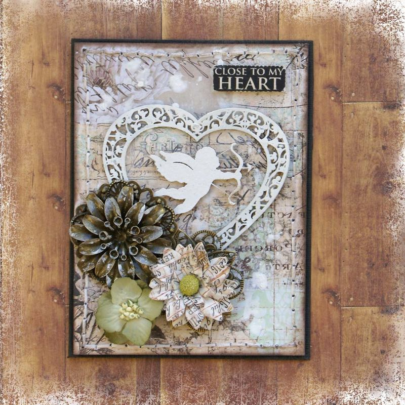 Scrapmatts Close to my heart card