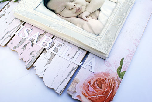Country Rose Wall art baby photos 3