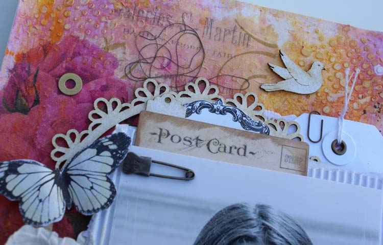 Scrapmatts journal close up frame