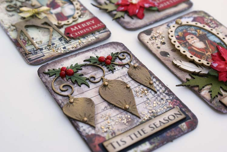 Scrapmatts Christmas ATC close up
