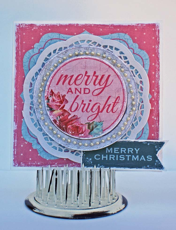 Kaisercraft Merry and Bright card