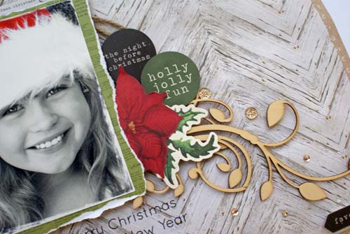 Home for Christmas Holly Jolly Fun close up